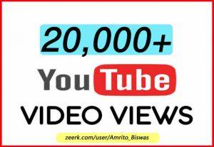 I Will Provide 20K+ YOUTUBE VIEWS, HIGH RETENTION, NON DROP LIFETIME GUARANTEED
