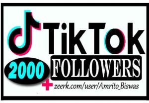 ADD 2,000+ TIKTOK FOLLOWERS, FROM REAL ACTIVE USER, NON DROP AND HIGH QUALITY,100% Guarantee.