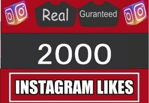 2000 instagram Likes |NON DROP| Fast Delivery | Guaranteed|real 100%
