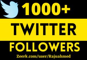 1000+ permanent twitter follwers life time grented 100% real non drop