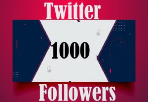 1000+ Twitter followers Best quality and non Drop