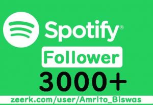 I Will Provide 3000+ Spotify Artist or Playlist Followers, High Quality, Active User, Non-Drop & Lifetime Guaranteed