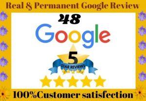 I Can Provide 48 Google Website Lifetime Guaranteed Verified Customer Reviews