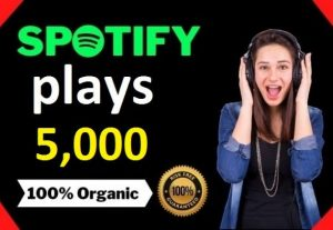 5,000 HQ Spotify Streams Plays Music Promotion