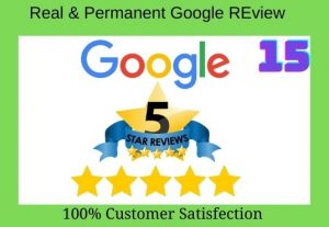 I will give 15+permanent verified google reviews