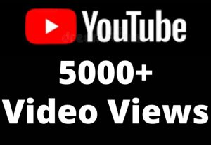 5000+ High Retention Youtube Video Views permanent Real……….