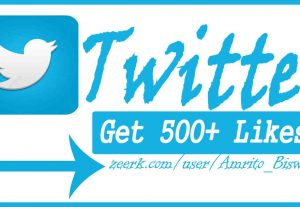 You Will Get 5,00+ Organic Twitter Likes, High Quality, Non-Dropped, Real Active User 100% Guaranteed.