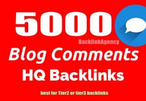 5000 Blog Comments HQ Backlinks For SEO On Google GSA SER Blast