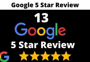 provide 13 permanent 5 star google review for your business