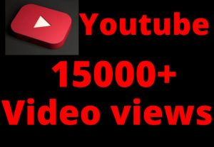 Get 15000+ Youtube Real video Views100% Non-drop, and Lifetime permanent,