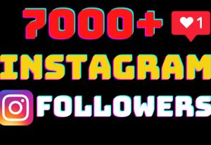 I will add 7000+ Instagram followers all followers are 100% real and organic.