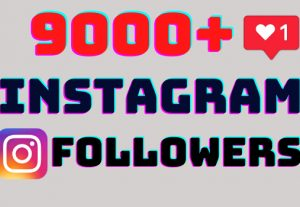 I will add 9000+ Instagram followers all followers are 100% real and organic.