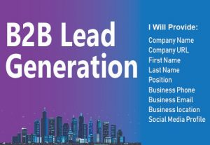 I will do perfect lead generation for you.