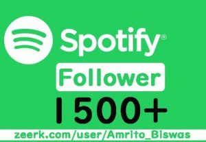 I Will Provide 1500+ Spotify Artist or Playlist Followers, High Quality, Active User, Non-Drop & Lifetime Guaranteed