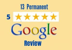 I will provide with 13 permanent google review