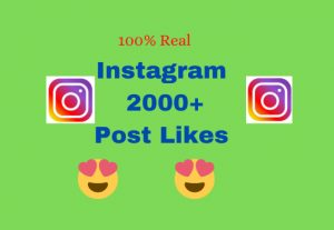 Real & High quality 2000 Post Likes (Instant)