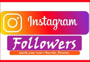 You Will get 1,500+ Instagram Real Followers, All Active User, None Dropped,100% Guarantee.