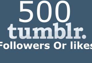 I will Provide you 500 Tumblr Followers Or likes
