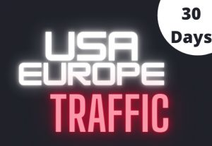 The unlimited USA and Europe web traffic service for 30 days