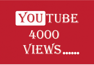 4000+ youtube  Views, best quality , non drop and lifetime permanent