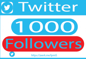 I will do organic 1000+ twitter Followers promotion and marketing, setup ads to increase followers