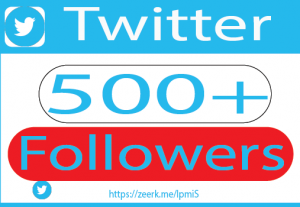 I will do 500+twitter Followers and marketing professionally and grow followers