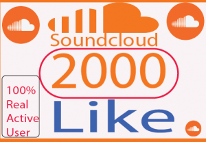 I will Provite 2000+ real like your soundcloud  100% Live Time Guaranteed