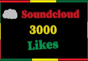 3000+ Soundcloud likes,Non drop and 100% guaranteed