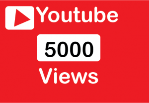 5000+ youtube views 100% real and non drop