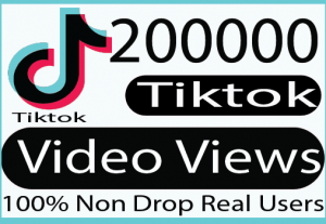 I will provide you with 20,0000 tik tok video views 100% Live Time guaranteed