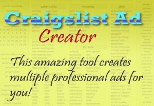 Craigslist Ad Creator Software – Generates Leads For Your Marketing & Posting