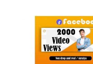 20000+Facebook video views 100% real and Non Drop