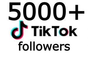 TiKTOk 5000+ followers none drop