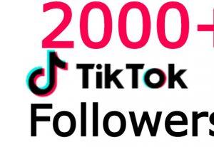 TikTOk 2000+ followers none drop