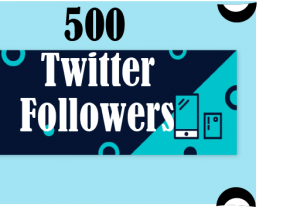 500+ Twitter Followers 100% Real and Lifetime Permanent