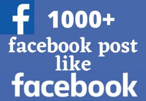 i will give 1000+ facebook post like non drop but real permanent….