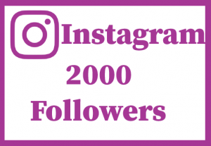 2000+ Instagram Followers,Best Quality .Non drop and 100% real