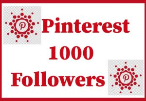 1000+ Pinterest followers,Best quality and lifetime permanent