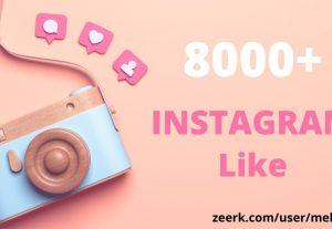 Get 8000+ Instagram Likes || Permanent || 100% original