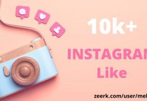 Get 10k+ Instagram Likes || Permanent || 100% original