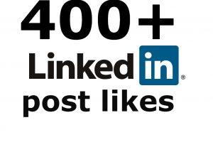 LinkedIn 400+ post likes none drop