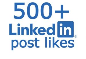 LinkedIn 500+ post likes none drop
