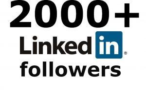 LinkedIn 2000+ followers none drop
