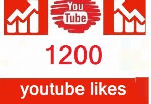 1200  YouTube Video Likes  , HQ , Safe| Lifetime guarantee