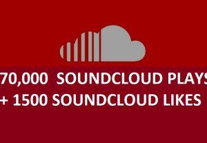 Get 50,000 soundcloud plays with 2000 soundcloud likes