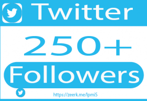 I will do 250+ twitter followers and promotion, twitt er marketing and shoutout for organic growth