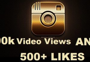 You will get 100k+ Instagram Video Views + 500 Likes Real Active user