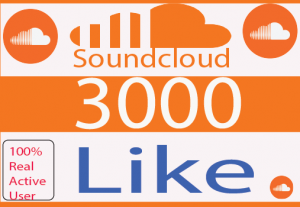 I will do SoundCloud  likes  Real Like And Non Drop 100% Live time Guaranteed