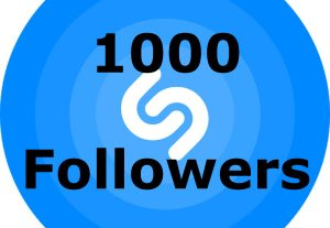 I will add 1000 Followers to your Shazam profile