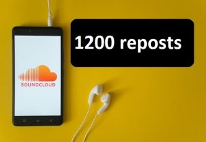 Give you 1200 repost on soundcloud